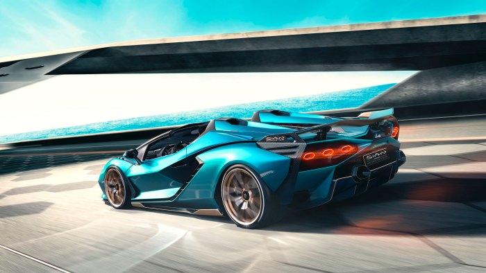 Lamborghini sian blu uranus