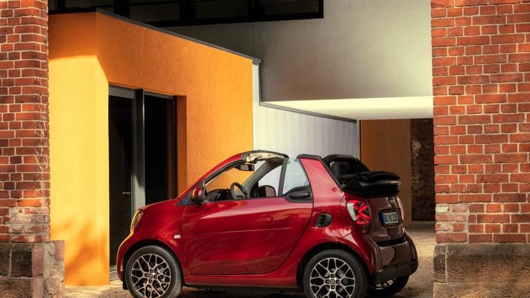 Smart EQ fortwo cabrio spate